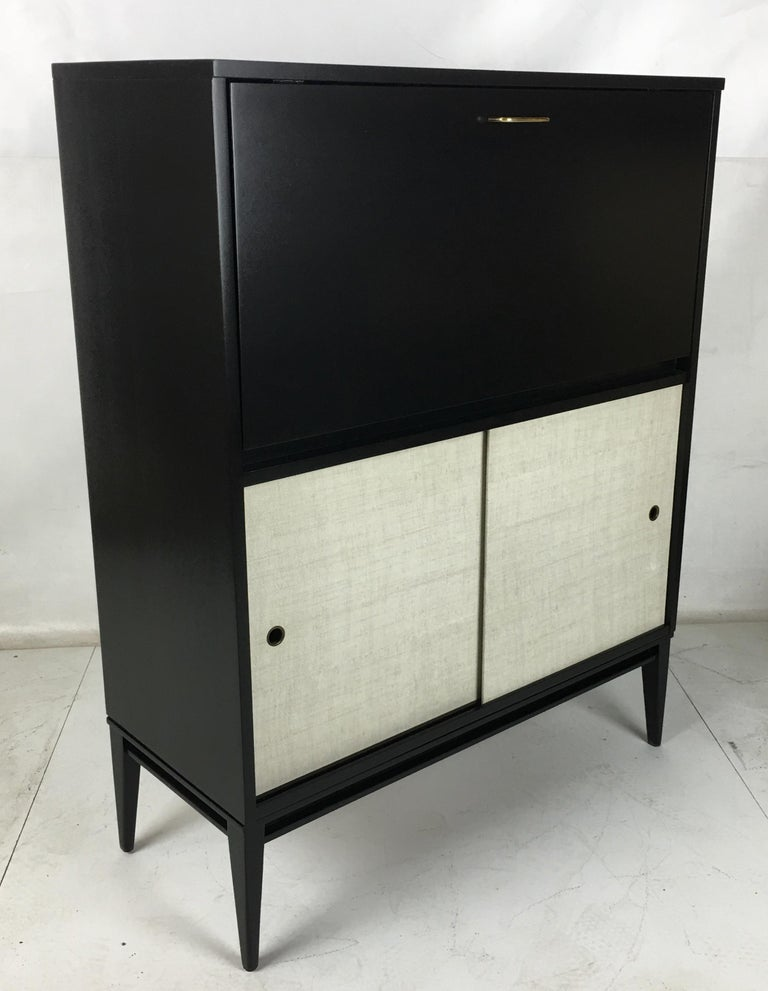 Ebonized Pristine Paul McCobb Planner Group Secretaire For Sale