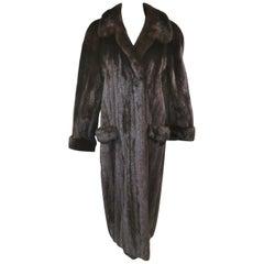 Ranch Mink Fur Full Length Coat (Size 18 - XL)