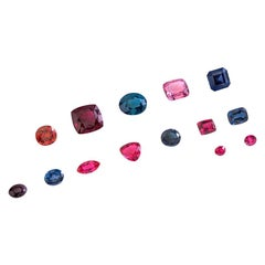Privately Curated Collection of Unset Loose Fancy Colored Spinel Gemstones