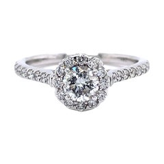 Privosa IGI Certified Round Halo Engagement Ring 1 CTTW