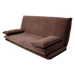 Pro Seda Contemporary Brown Suede Daybed Sofa Fouton