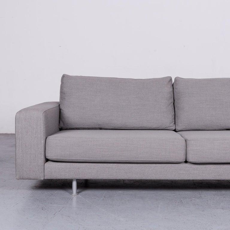 Pro Seda Designer Fabric Sofa Grey Sofa Couch Modern In Good Condition In Cologne, DE