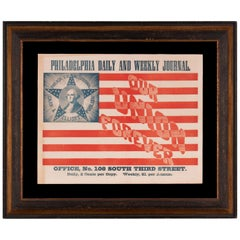 Pro-Union Civil War Broadside with Large Image of Washington