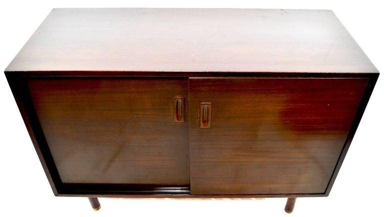 Mahogany Probber Two-Door Cabinet For Sale