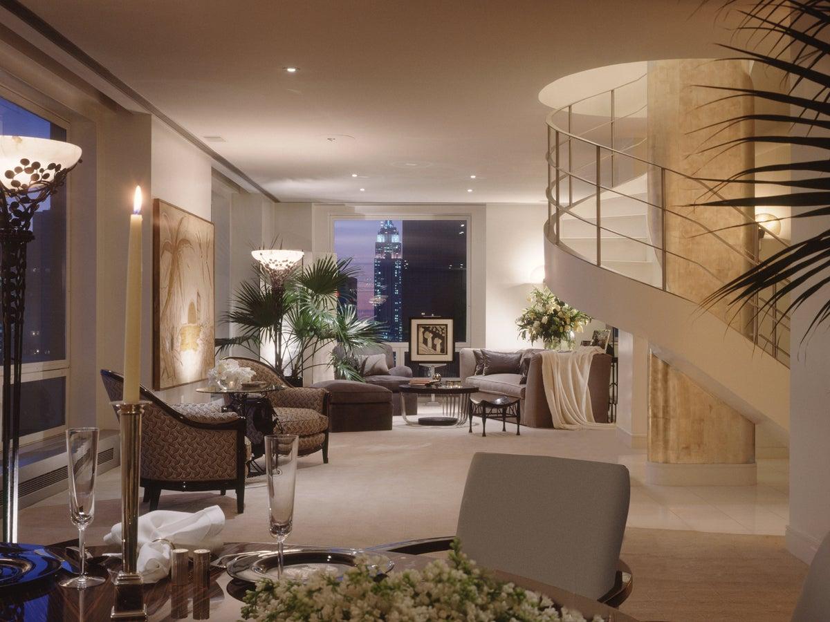 A Glamorous Penthouse By Sandra Nunnerley Inc