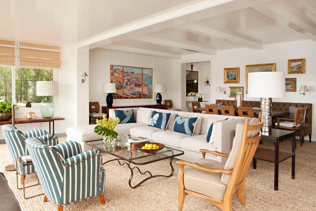 Beach Style Living Room In Newport CA By Peter Dunham Design