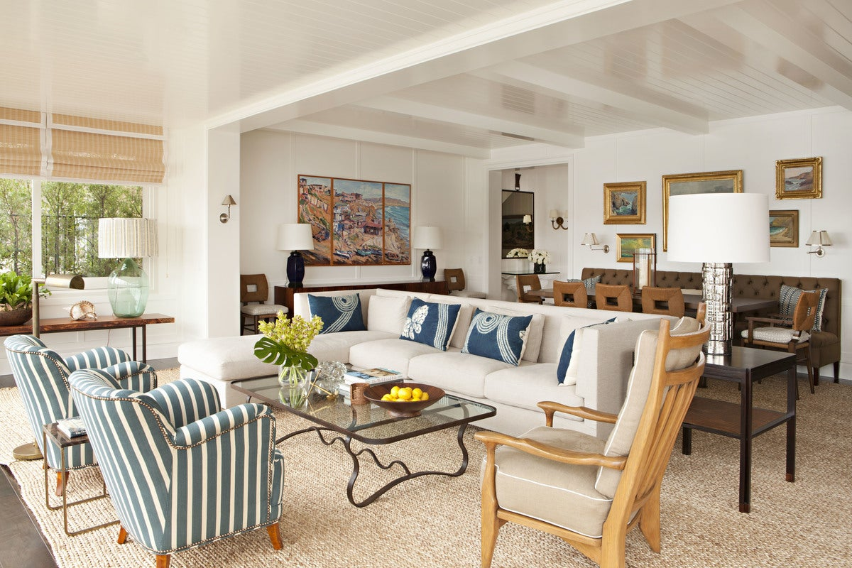 Style Living Room in Newport Beach, CA by Peter Dunham Design