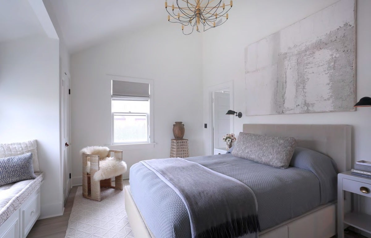 bedroom beach style bedroom in water mill ny by huniford design