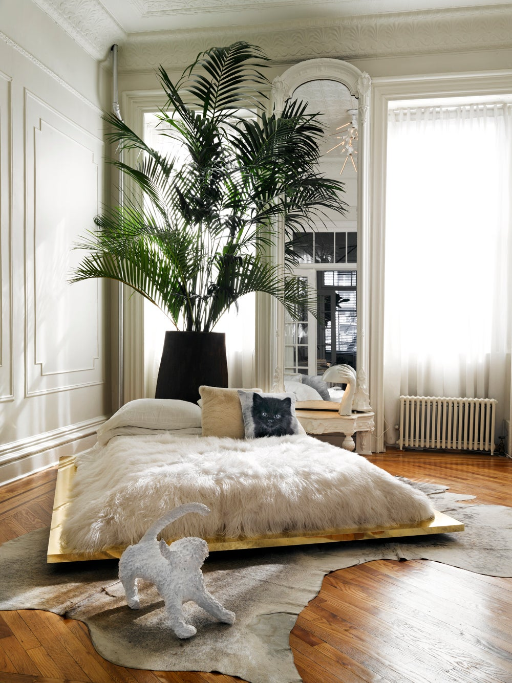 brooklyn brownstone by kelly behun studio 11228 | contemporary organic bedroom brooklyn ny by kelly behun studio