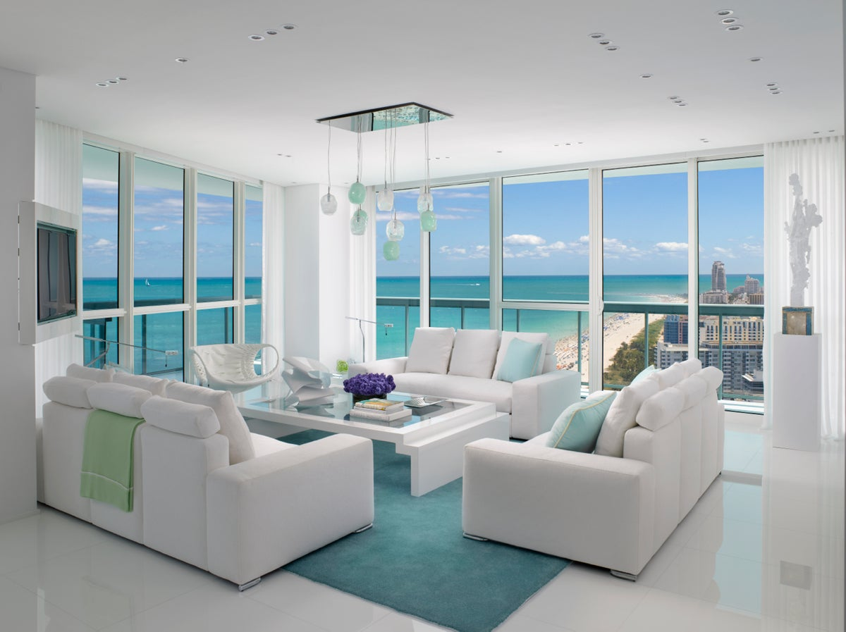 Contemporary living room in miami fl by jennifer post for Modern furniture inc