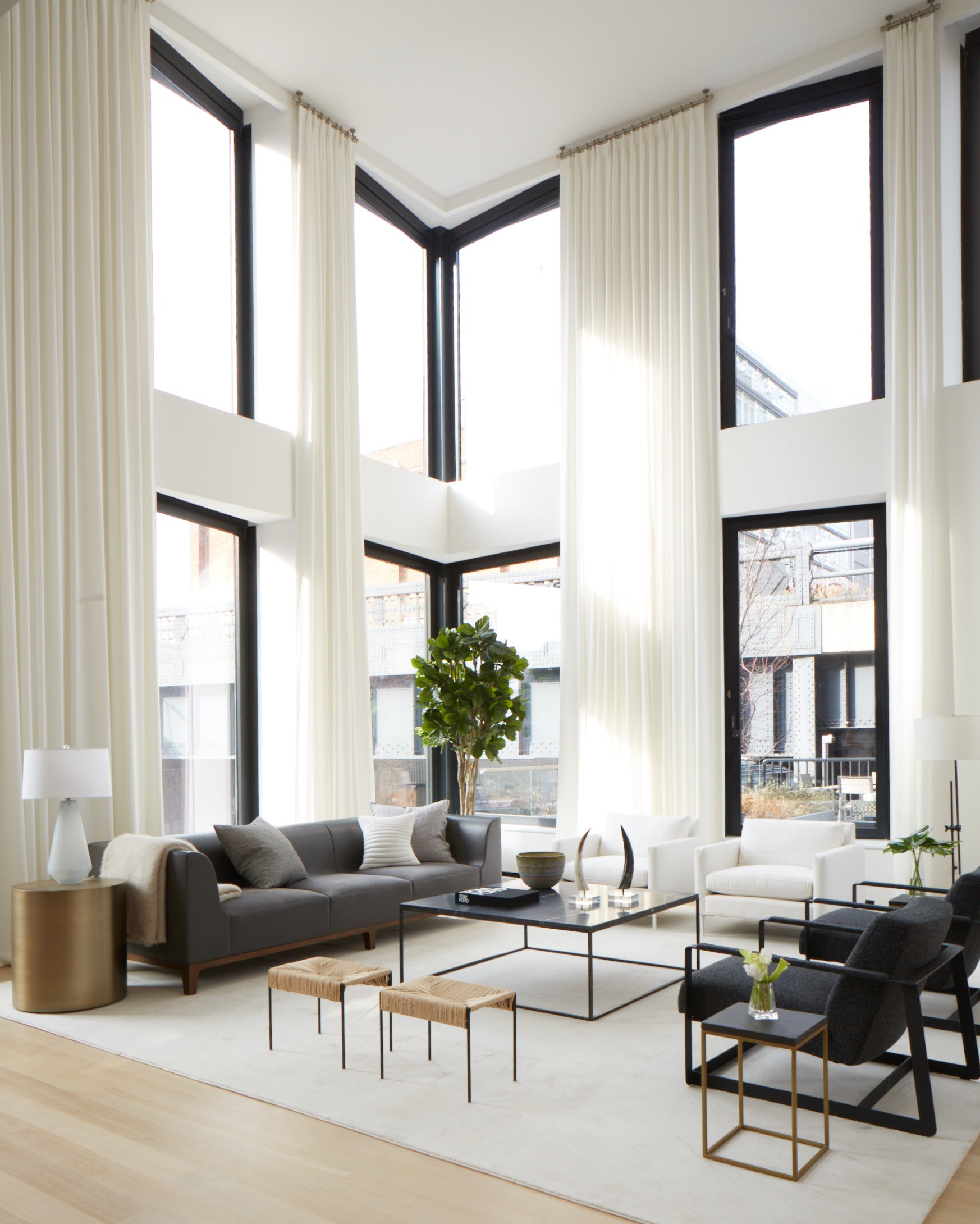 Living Room in New York, NY by ASH NYC
