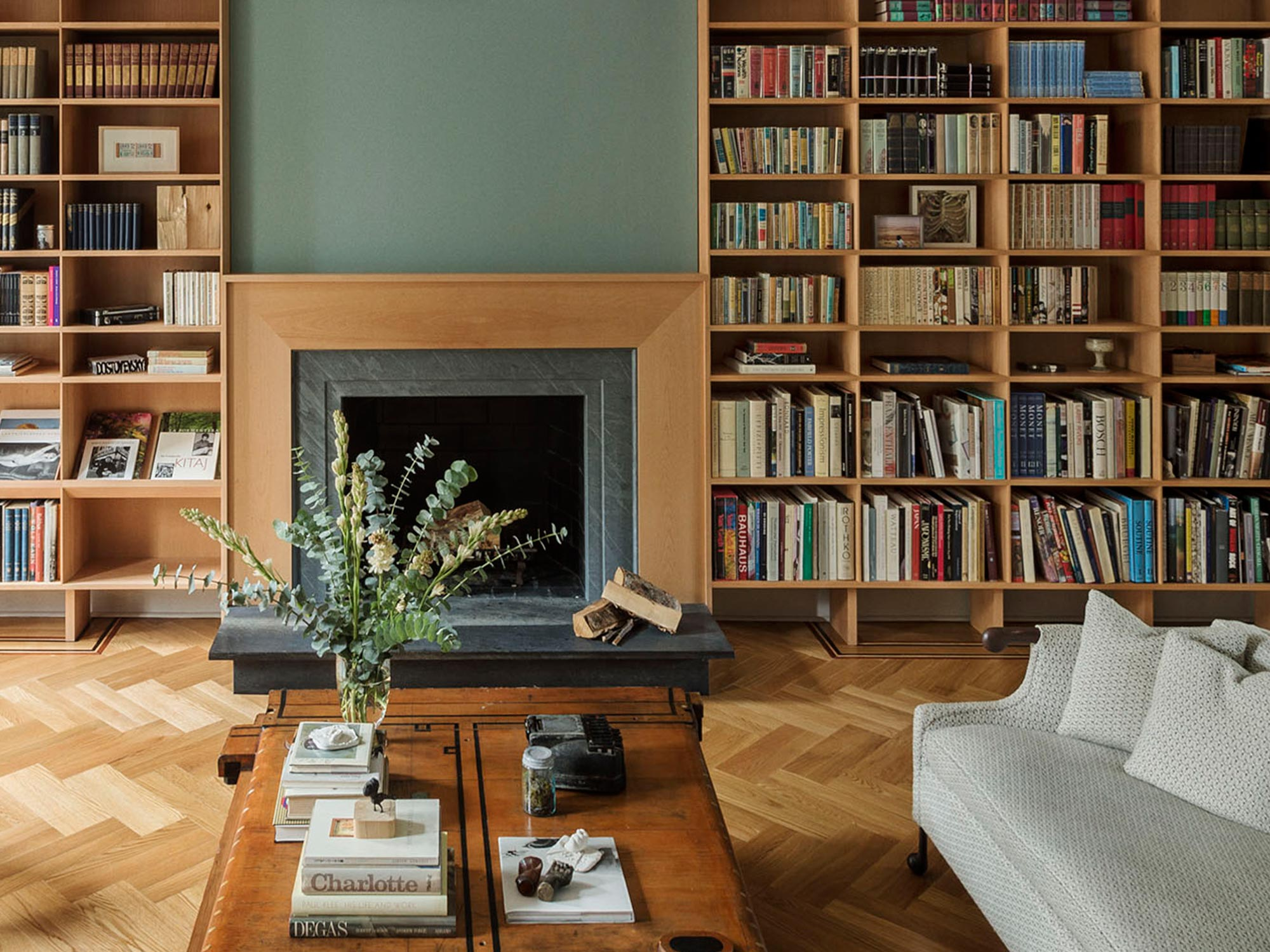 Fireplace - Living Room in Brooklyn, NY by Workstead