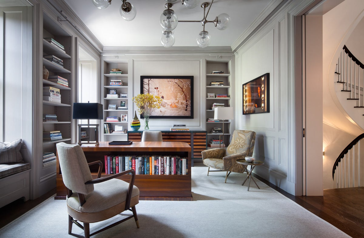 Eclectic office and study in new york ny by shawn for Interior designer new york ny