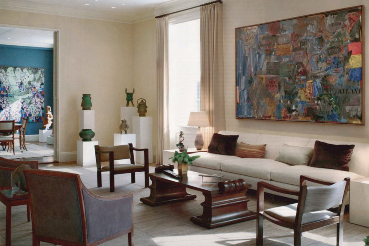 Park avenue residence by kristen mcginnis design for Avenue u living room