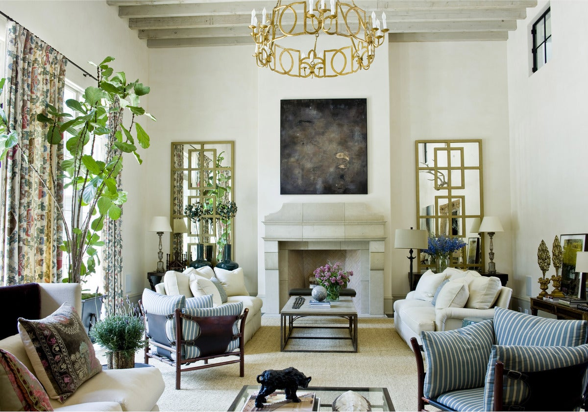 English country living room in us by suzanne kasler interiors for Living room atlanta