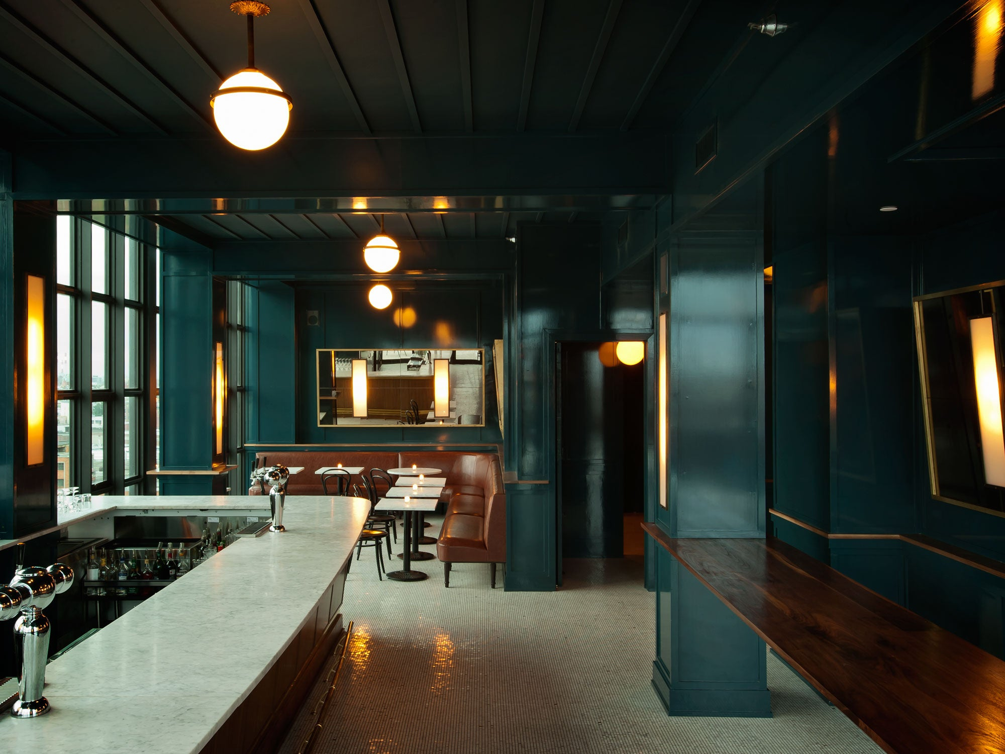 The dewberry by workstead for Living room steakhouse brooklyn