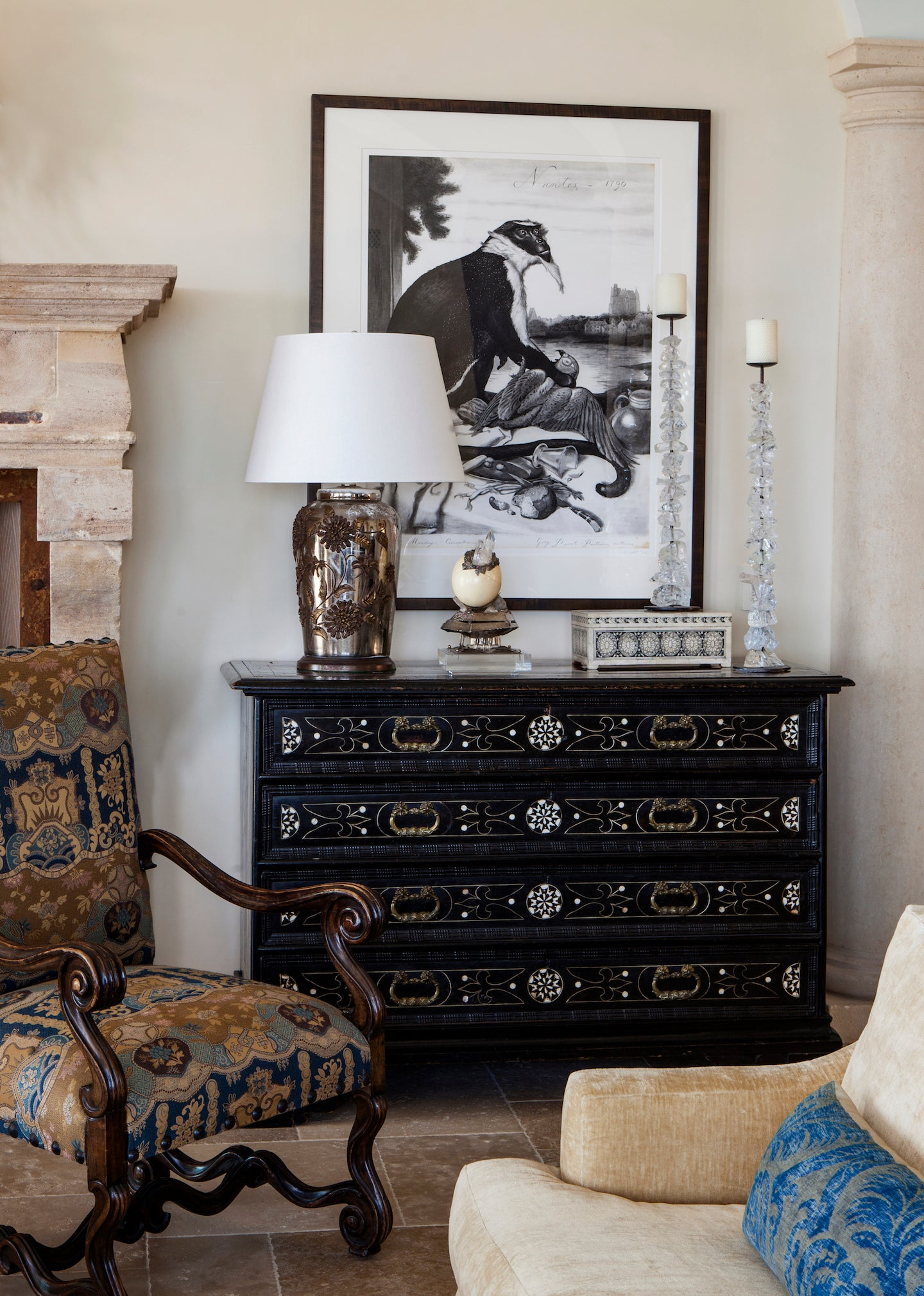 Nimmo Tuscan Living Room Vignette By Philip Nimmo Inc