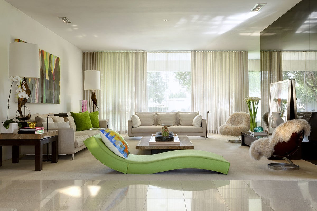 Mid Century Modern Living Room In Palm Springs Ca By