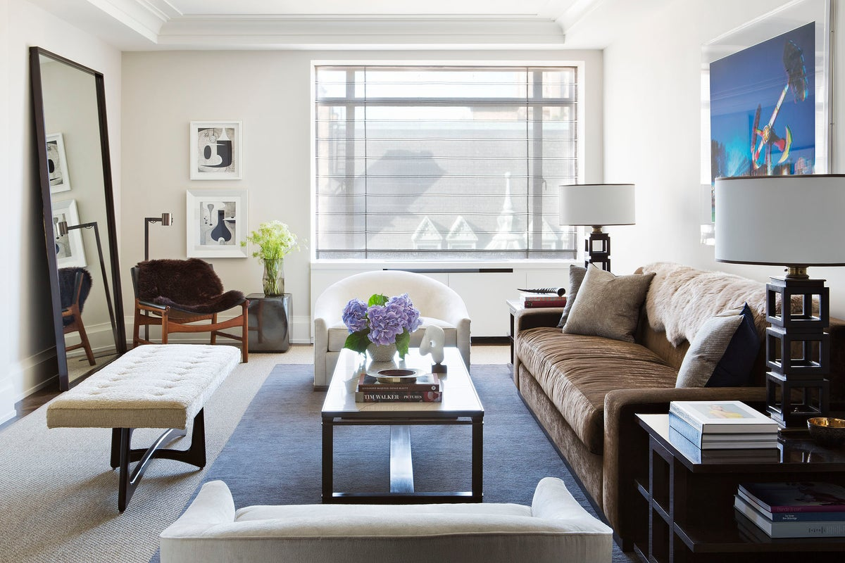 Pre war apartment by shamir shah design for Living room york