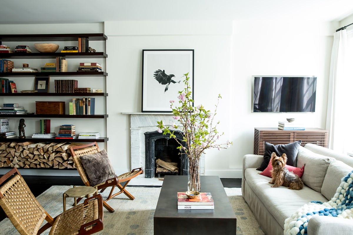 Organic living room in new york ny by katie martinez design for The family room troy ny