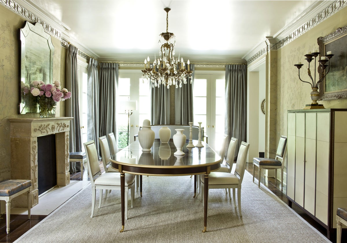 Regency dining room in atlanta ga by suzanne kasler interiors for Regency dining room