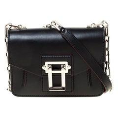 Proenza Black Leather Mini PS1 Mini Indigo Crossbody Bag