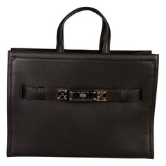 Proenza Schouler Black Leather Large PSII Wide Tote