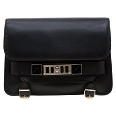 Proenza Schouler Black Leather Mini Classic PS11 Shoulder Bag