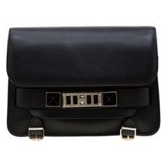 Proenza Schouler Black Leather Mini Classic PS11 Shoulder Bag