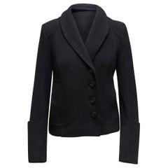 Proenza Schouler Black Shawl Collar Blazer