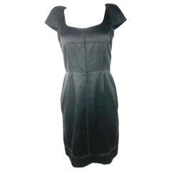 Proenza Schouler Black Silk Mini Dress, Size Small