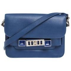 Proenza Schouler Blue Leather Mini Classic PS11 Shoulder Bag