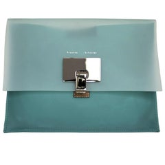 Proenza Schouler Green Two-Tone Plastic Pouch