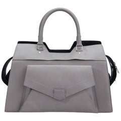 Proenza Schouler Grey Leather Small PS13 Satchel