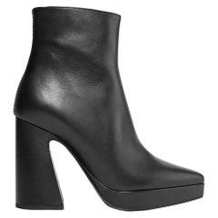 Proenza Schouler Leather Platform Ankle Boots