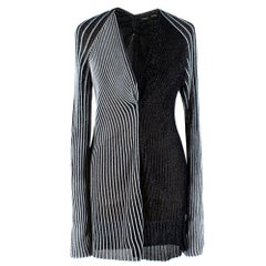 Proenza Schouler Metallic Striped Contrast Ribbed-Knit Top M