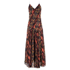Proenza Schouler Printed Silk Midi Dress US 6