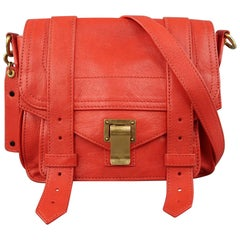 PROENZA SCHOULER Red Leather PS1 Mini Cross Body Satchel Handbag