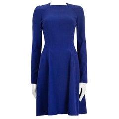 PROENZA SCHOULER royal blue viscose Flared Stretch Dress 6 S
