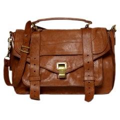 Proenza Schouler Tan Leather Medium PS1 Messenger Bag