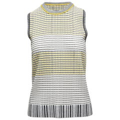 Proenza Schouler White & Multicolor Sleeveless Knit Top