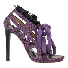 Proenza Schouler Woman Sandals Black Leather IT 38
