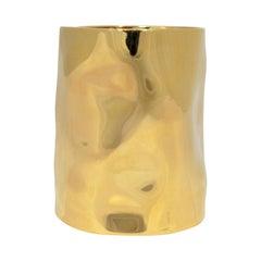 Proenza Schouler XL Gold Hammered Cuff Bracelet