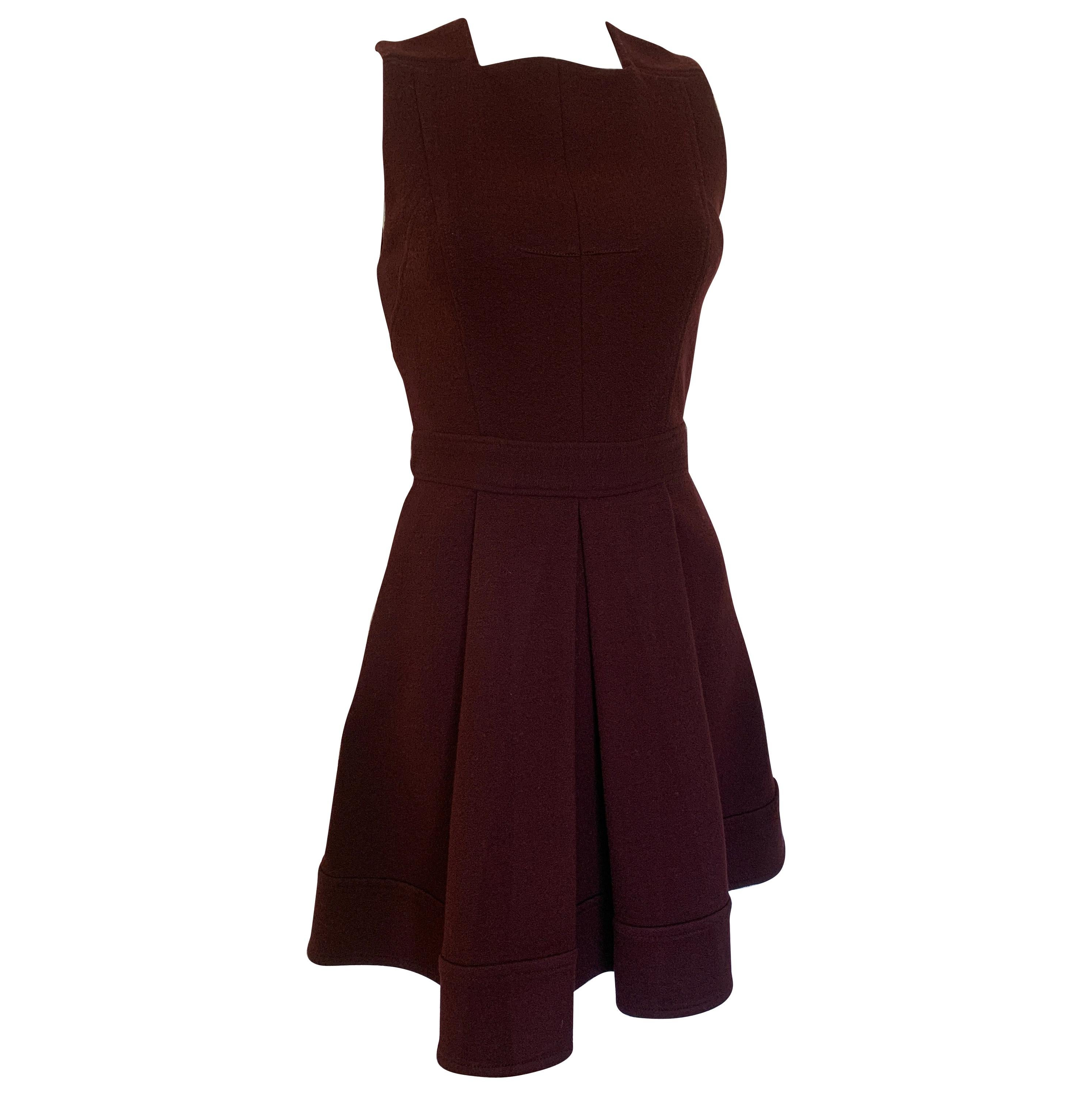 Proenza Shouler Aubergine Fit and Flare Dress Size 4