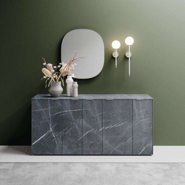 Italian Profbox Stone Gray Sideboard For Sale