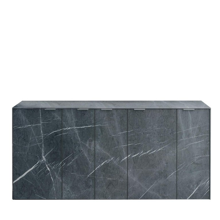 Hand-Crafted Profbox Stone Gray Sideboard For Sale
