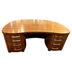 Professional Art Deco Midcentury Desk by Stow and Davis