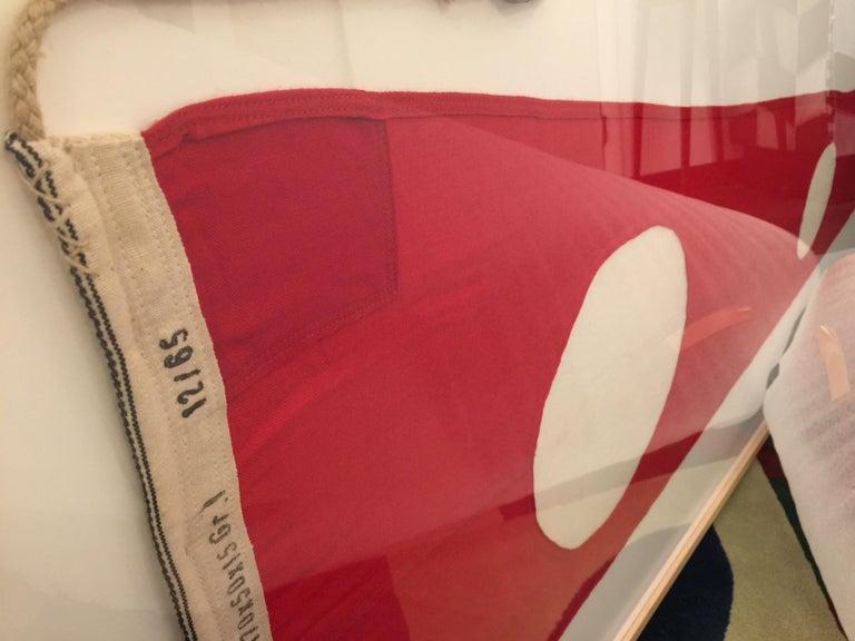 Professionally Framed WW II Nautical Signal Flag For Sale 1