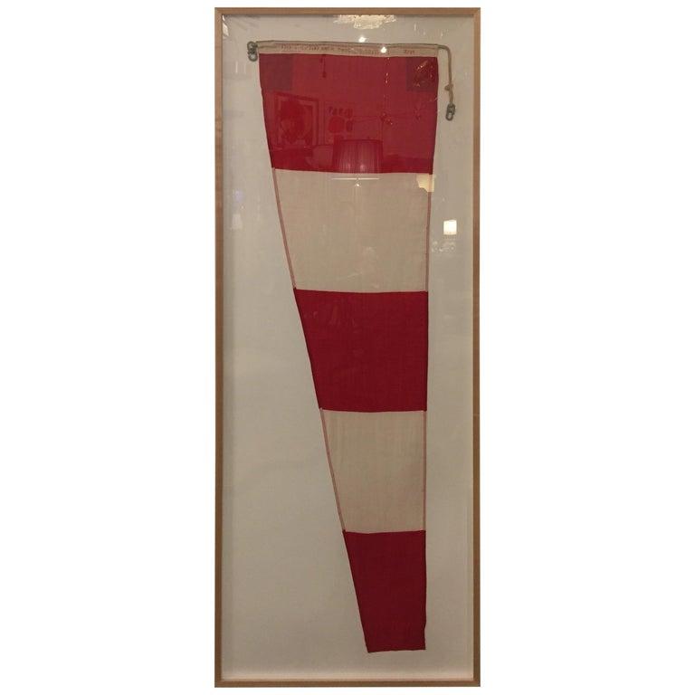 Professionally Framed WW II Nautical Signal Flag For Sale