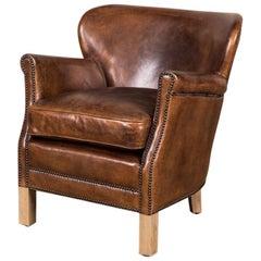 Professor Leather Armchair, 20th Century